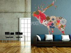 Color deer - inspiration wall decal, interiors gallery• PIXERSIZE.com