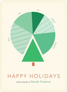 Corporate pie chart cards pinterest business holiday cards pie simple holiday card colourmoves