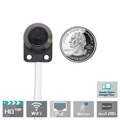 Titathink TT520PW 720P HD Wireless Micro Hidden Pinhole Nanny Spy H.264 Network IP Camera *** Want to know more, click on the image.
