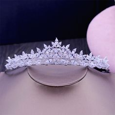 New AAA CZ  Bridal Wedding Tiara Crown Hair Accessories Jewelry Birthday Party Crown Headpiece HG1178 #Affiliate