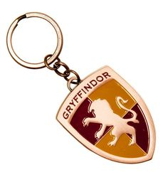 Harry Potter Gryffindor Crest Metal Keychain Keyring School of Witchcraft Red Yellow