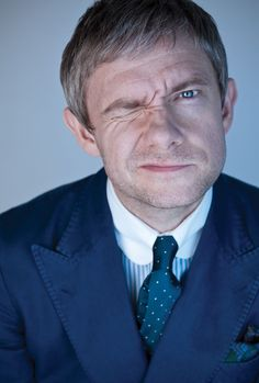 Yep, definitely have a crush on Martin Freeman--who doesn't? I mean it's where it just lingers because you cannot do a thing about it...I am pretty sure he is taken forever.