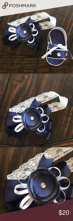 Hand made baby shoes & headband Handmade Shoes Baby & Walker