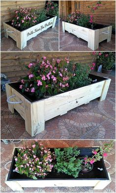 pallets planter art
