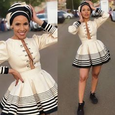 Zulu Traditional Wedding Dresses, South African Traditional Dresses, Traditional Outfits, Traditional Styles, African Prom Dresses, Latest African Fashion Dresses, Ankara Fashion, Emo Fashion, Short Dresses