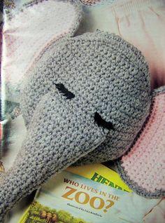 Adorable Fun Elephant   Tiger Pajama Bag by SewKnitandCrochet Crochet  Elephant d0f717322e2c