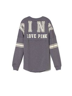 I'm a bit obsessed with these Pink Varsity Crew spirit jerseys from Victorias Secret need need need.