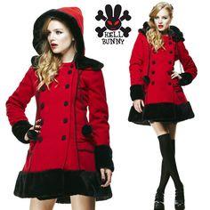 Hell Bunny red Sarah Jane coat $150