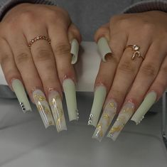 Acrylic Nails Coffin Pink, Short Square Acrylic Nails, Drip Nails, Glow Nails, Gorgeous Nails, Pretty Nails, Exotic Nails, Green Nails, Swag Nails