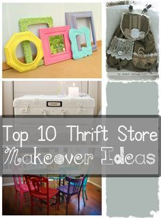 I love thrifting. It's kind of like going on a treasure hunt. I am amazed at what you can find for so cheap! All you need is an eye for potential and a can of spray paint to decorate your home on t...
