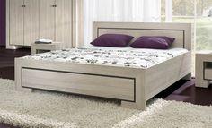 Manželská postel Casablanca / double bed Double Beds, Bench, Casablanca, Storage, Furniture, Design, Home Decor, Full Beds, Purse Storage