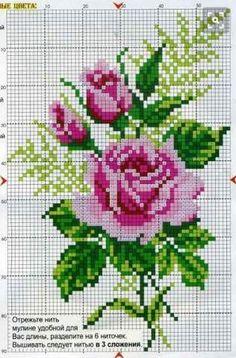 55 Flower Graphics in Cross Stitch – Gr Cross Stitch Love, Cross Stitch Pictures, Cross Stitch Borders, Cross Stitch Flowers, Cross Stitch Designs, Cross Stitching, Cross Stitch Embroidery, Hand Embroidery, Cross Stitch Patterns