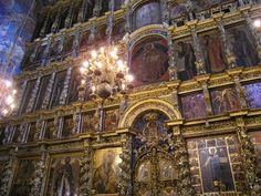 The wall that separates two worlds in an iconostasis. One might mean by the iconostasis the boards or the bricks or the stones. In actuality, the iconostasis is a boundary between the visible and i…