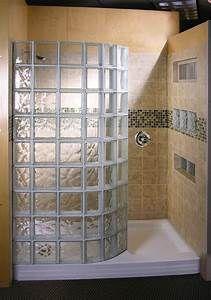 Doorless Shower | This doorless walk in shower design has ...