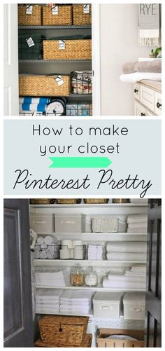Are you wondering how to make your linen closet (or bathroom storage, or cleaning area) pretty? Here are my top ideas and tips for making your organization shine! Your storage and vacuum will never look so good ; Linen Closet Organization, Closet Storage, Bathroom Organization, Organization Hacks, Bathroom Storage, Storage Organizers, Attic Storage, Toy Storage, Organization Ideas
