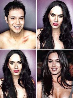 Un homme se maquille en star de Hollywood un homme se maquille en star de hollywood megan fox
