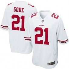 Nike Elite Youth San Francisco 49ers  21 Frank Gore White Color NFL Jersey   79.99 Frank 686418e41