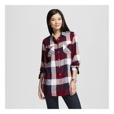 Women's Plaid Favorite Tunic - Merona™ : Target color berry, size medium
