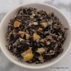 Wild Rice with Chestnuts -  Earthy wild rice pairs beautifully with sweet chestnuts.  http://www.theveggietable.com/blog/vegetarian-recipes/appetizers-side-dishes/wild-rice-with-chestnuts/