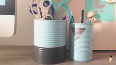 DIY Un pot à crayon facile et rapide avec des boîtes de conserve !