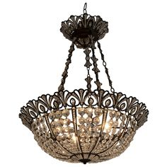 Schonbek Swarovski Tiara Nine Light Chandelier  | From a unique collection of antique and modern chandeliers and pendants  at http://www.1stdibs.com/furniture/lighting/chandeliers-pendant-lights/