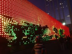 Crazy video wall outside the Nike compound by John Biehler, via Flickr