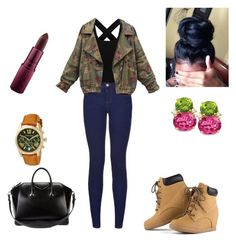"""""""Casual Day Out"""" by kiyaaahhh ❤ liked on Polyvore featuring Givenchy, Giambattista Valli and Michael Kors"""