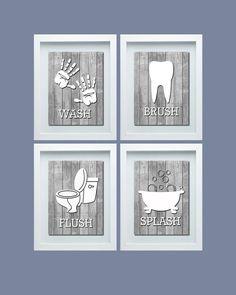 Bathroom Rules Wall Art printable motivational mermaid and pirate - character bathroom