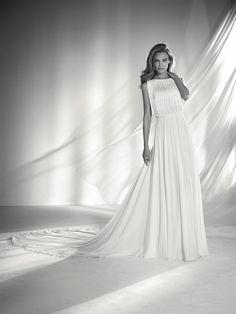 Wedding dress bodice with fringe - Pronovias 2018 Collection