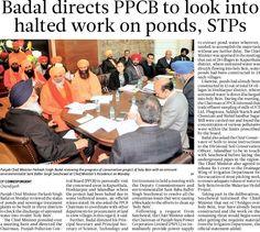 Badal directs PPCB to look into halted work on ponds. #Shiromaniakalidal #Parkashsinghbadal #CM #Punjab #Direct #PPCB