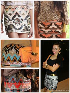 ♥ aztec prints skirts