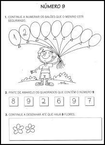 30 Atividades Com O Numero 9 Para Imprimir Educacao Infantil E