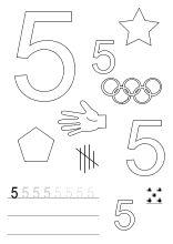arbeitsblatt für zahl nummer 1   kiga   kindergarten, classroom und preschool