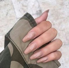 In look for some nail designs and ideas for your nails? Here's our list of 27 must-try coffin acrylic nails for stylish women. Nude Nails, Coffin Nails, Gel Nails, Nail Polish, Beige Nails, Acrylic Nails, Neutral Nails, Nail Nail, Acrylic Art