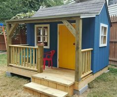 Free Plans to Help You Build a Playhouse for the Kids: The Wendy House Playhouse Plan by BuildEazy