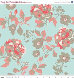 On Sale Riley Blake Fabric  Half Yard of by ThreeDollsFabrics