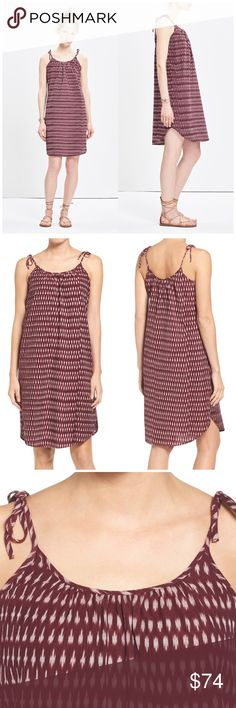 """NWT Madewell Tie Strap Ikat Cotton Shift Dress Brand new with tags Madewell Tie Strap Ikat Cotton Shift Dress. Slender straps fasten at the shoulders of a breezy cotton shift dress styled with a gently shirred scooped neckline and a vibrant ikat print that enlivens the laid-back look. - 36"""" center front length  - Slips on over head - Scooped neck - 100% cotton Madewell Dresses"""