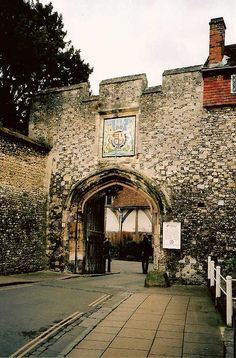 The King's Gate, Winchester, UK by qatsi, via Flickr - passed through this gate many times...