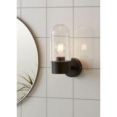 Zen fürdőszobai fali lámpa Markslöjd 107800 Glass Wall Lights, Bathroom Wall Lights, Glass Bathroom, Led Filament, Kirkenes, Zen Design, Fluorescent Lamp, Direct Lighting