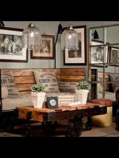 Love this corner nook!