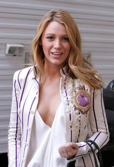 Blake Lively.. love the blazer