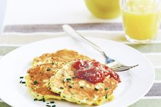 #Corn #fritters :  Ingredients  1 cup White Wings Self-Raising Flour 1/2 cup buttermilk 2 eggs 420g can corn kernels, drained 310g can creamed corn 1/4 cup finely chopped chives olive oil cooking spray chutney and chopped chives, to serve http://www.fredsfruit.com/corn-fritters/
