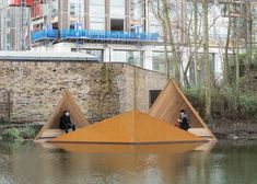 AOR's floating Viewpoint offers glimpses of London canal-side wildlife