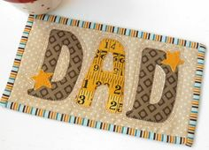 Having my Mug Rug Alphabet always to hand means I'm never stuck for a last minute gift.  Three sets of letters - all suitable for mug rugs.