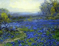 Robert Julian Onderdonk(1882ー1922)「MORNING IN THE BLUEBONNETS」