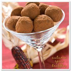 DIY Wedding Favors: Autumn Spice Truffles. perfect for fall weddings