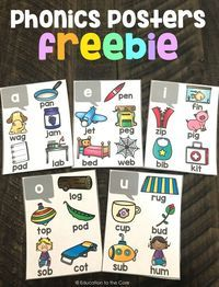 Short Vowels Posters Freebie