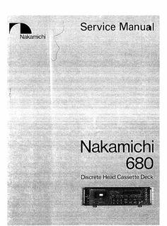 nakamichi cr 2 cr 2e cr 2a cr 20 original service manual pinterest rh pinterest com Nakamichi Cassette Deck Nakamichi Home Audio