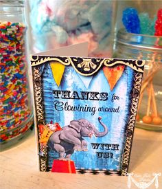 Primary Circus Party Carnival Party  PRINTABLE THANK by CutiePutti, $7.50