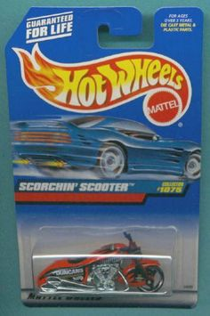 Mattel Hot Wheels 1999 1:64 Scale Red Scorchin Scooter Die Cast Motorcycle…